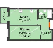 1 комнатная квартира 35,91 м² в OK Salut (Салют), дом ГП-6 - планировка
