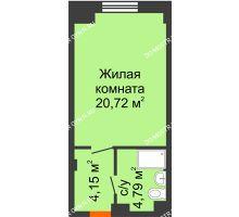Студия 29,66 м², Апарт-Отель Гордеевка - планировка