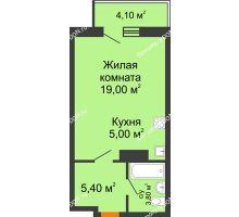 Студия 34,43 м² в ЖК Сокол Градъ, дом Литер 8 - планировка