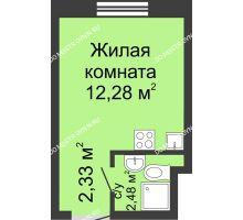 Студия 17,09 м² в ЖК Бурнаковский, дом № 39 - планировка