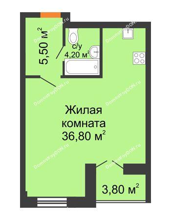 Студия 48,4 м² - ЖК Дом на 18-й Линии, 3