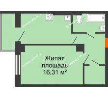 1 комнатная квартира 41,07 м² в ЖК Сокол Градъ, дом Литер 4 - планировка