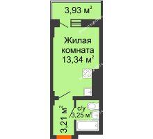 Студия 20,98 м² в ЖК Встреча, дом № 1 - планировка