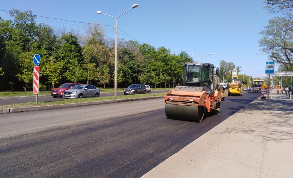 Два участка дорог в Ростове-на-Дону отремонтировали в рамках нацпроекта с начала года