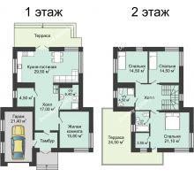 4 комнатная квартира 180,5 м² в КП Standart (Стандарт), дом Вилла 1-го типа 180,5 м² - планировка