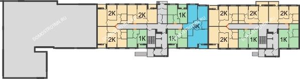 Жилой дом: ул. Сухопутная - планировка 1 этажа