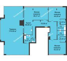 3 комнатная квартира 438,88 м², ЖК Царское село - планировка