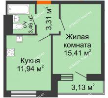 1 комнатная квартира 37,25 м² - ЖК Олимпийский