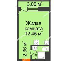 Студия 17,33 м² в ЖК Корабли, дом № 9-1 - планировка