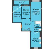 3 комнатная квартира 63,6 м² - Жилой дом: г. Дзержинск, ул. Буденного, д.11б