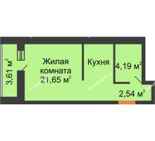 Студия 28,38 м², ЖК Парк Металлургов - планировка