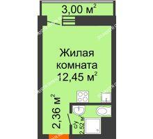 Студия 17,33 м² в ЖК Корабли, дом № 9-2 - планировка