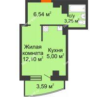 Студия 30,49 м² в ЖК Нива, дом №37 - планировка